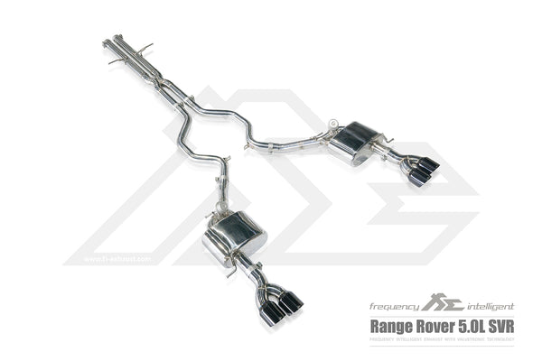 FI Exhaust Range Rover SV Autobiography Mid Pipe + Valvetronic Mufflers + Quad Tips