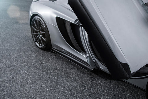 VORSTEINER V-MC Aero Side Blades Carbon Fiber PP 2x2 Glossy for MCLAREN MP4-12C Coupe & Spyder