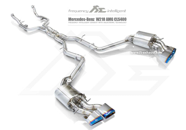FI Exhaust Mercedes-Benz CLS400 Mid X Pipe + Valvetronic Mufflers