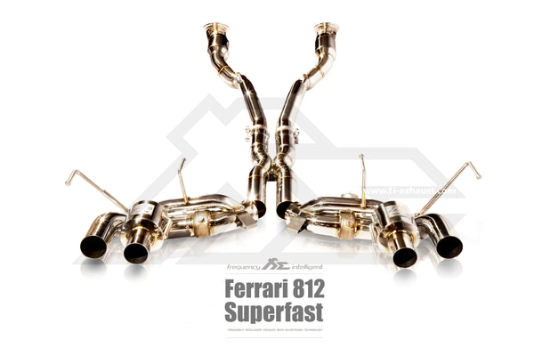 FI Exhaust Ferrari 812 Superfast Valvetronic Mufflers + Quad Tips