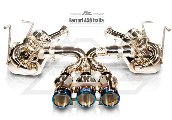 FI Exhaust Ferrari 458 Italia / Spider (F1 Version) Valvetronic Mufflers + Tri Tips