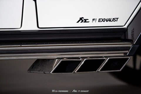 FI Exhaust Mercedes-Benz G63 AMG Valvetronic Mufflers + Triple Square Tips