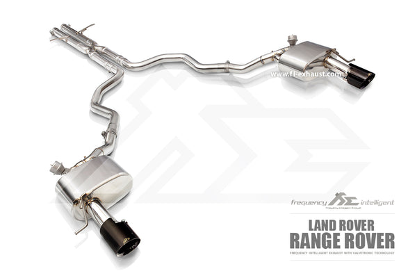 FI Exhaust Range Rover Sport Mid Pipe + Valvetronic Mufflers + Dual Tips