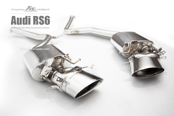 FI Exhaust Audi RS6 Sedan & Sportback Front Pipe + Mid X Pipe + Rear Mufflers + Dual Tips