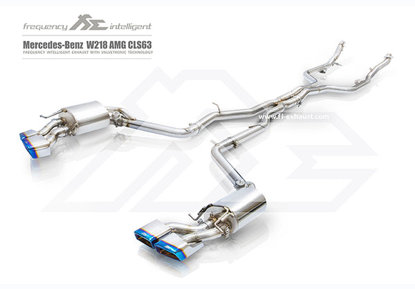 FI Exhaust Mercedes-Benz CLS63 AMG Mid X Pipe + Valvetronic Mufflers + Quad Tips