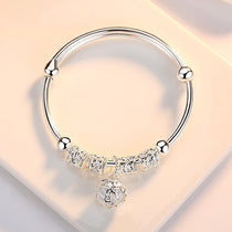 Authentic Bracelet Bangle 925 Sterling Silver with Heart European Charm
