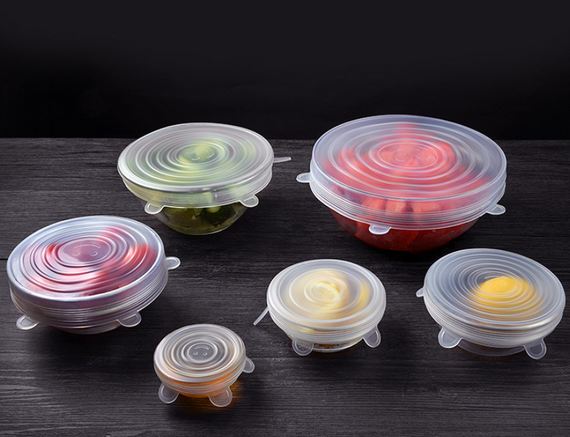 Stretch & Fit - Silicone Stretch Lids (6-Pack) Food Saver Cover Bowl - TcMarketShop