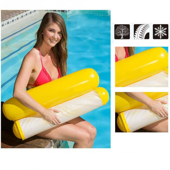Summer Floating Hammock Inflatable Pool Swimming Lounger Bed Beach - TcMarketShop