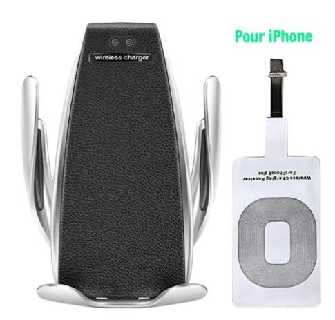 S5 Wireless Charging Car Phone Mount Quick Charger with Smart Sensor - TcMarketShop