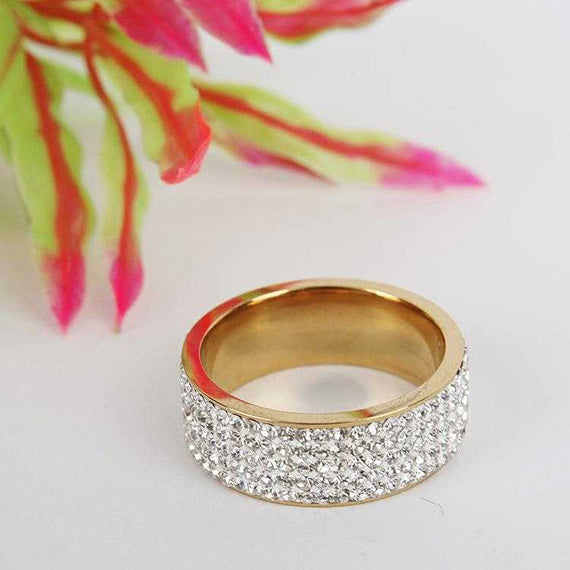 Women's Fashion Ring Clear Crystal Rhinestone Gift Wedding Jewelry - TcMarketShop