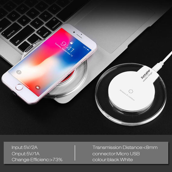 Universal Wireless Charger for IPhone X 8 Plus Charging Pad Samsung - TcMarketShop