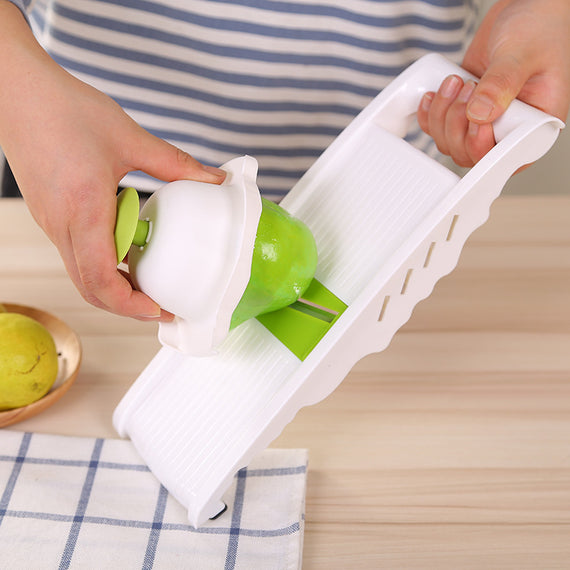 Stainless Steel Vegetable Slicer Cutter Chopper and Grater - 5 Blades - TcMarketShop