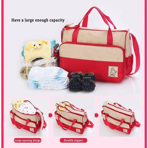 5Pcs Baby Diaper Bag Set - Best Baby Stroller Organizer