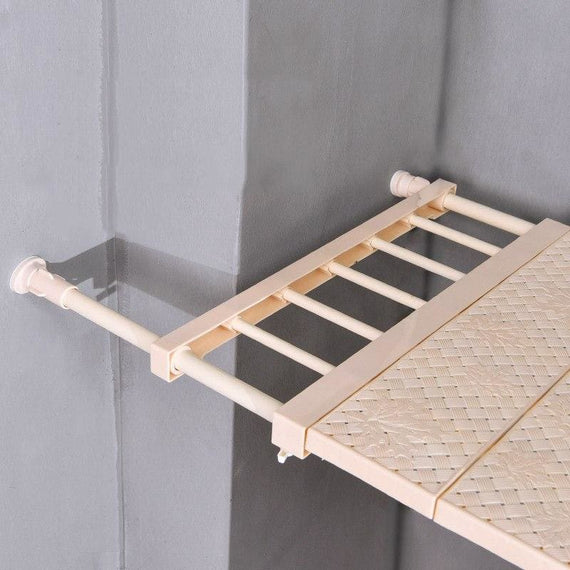 Adjustable Closet Organizer Wardrobe Storage Nail Free Shelf Rack - TcMarketShop