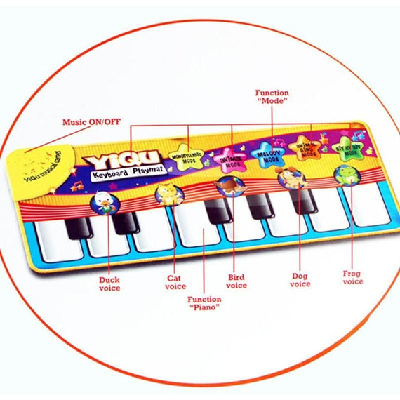 Baby Piano Music Playmat Childrens Musical Toys