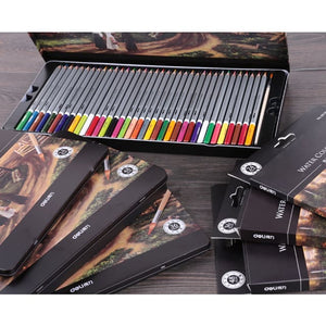 Colored Pencil Drawing Set 24/36/48/72 Deli Water-soluble Painting