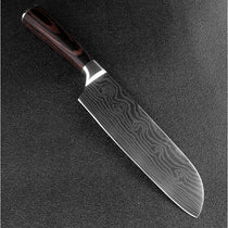 Damascus Pattern Chef Knife Custom Handmade Kitchen Set Blade Stainless Steel - TcMarketShop