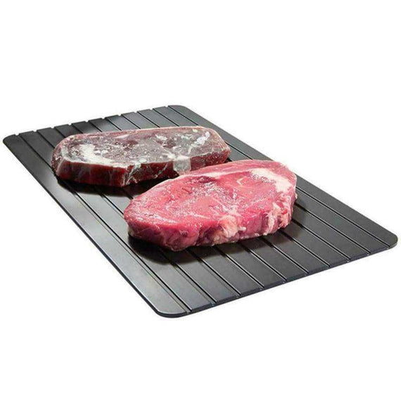 Fast Defrost Metal Thawing Plate Tray-the Safest Way Meat Or Frozen Food Quickly - TcMarketShop