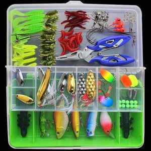 Fishing Lure Kit Mixed 101PCS Minnow Popper Crankbaits Soft Plastic