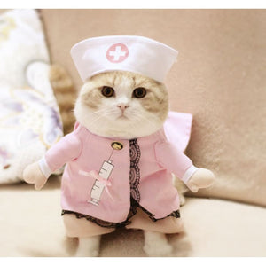 Funny Cat Clothes Nurse Princess Pet Costume