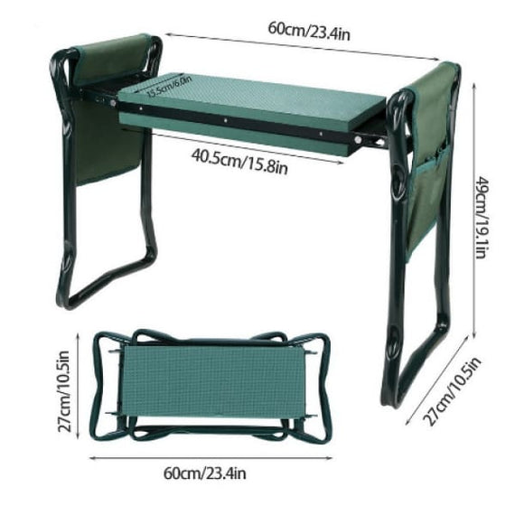Garden Kneeler And Seat Foldable Stool- Protects Knees, Clothes - TcMarketShop