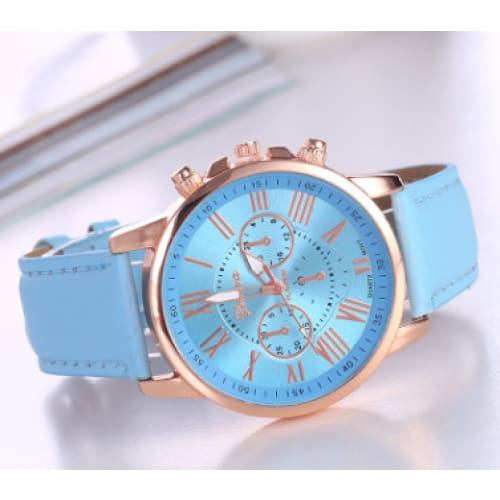 Geneva Womens Wrist Watch - Faux Leather Fashion Analog Quartz