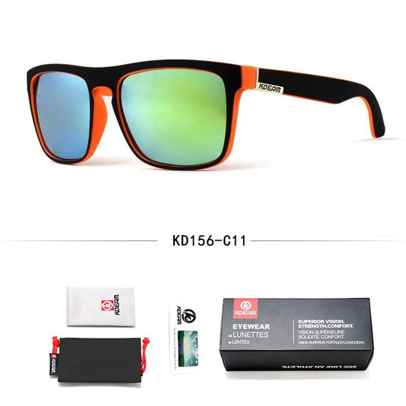 Kdeam Men's Polarized Sunglasses Square Sport Glasess With Case - TcMarketShop
