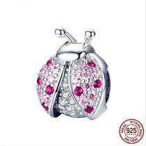 Ladybug Charm 925 Sterling Silver For Bracelets and Necklace