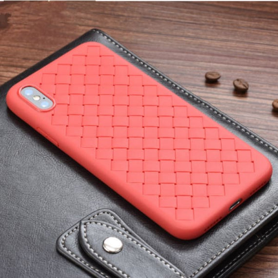 Luxury Grid Weaving Soft Case Cover for iPhone X/8/7/6 - TcMarketShop