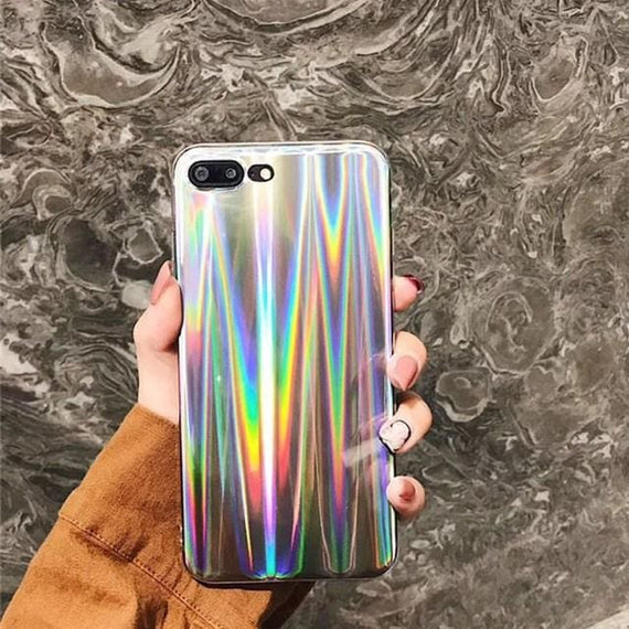 Luxury Iphone X 8 7 Rainbow Case Glitter Laser Shining Cover - TcMarketShop