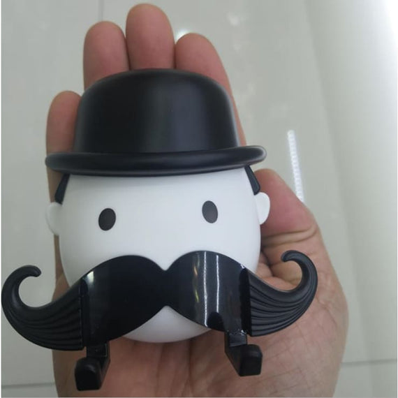 Men's Shaver Holder Mustache Hook Socket Razor Wall Mounted Gift For Him - TcMarketShop