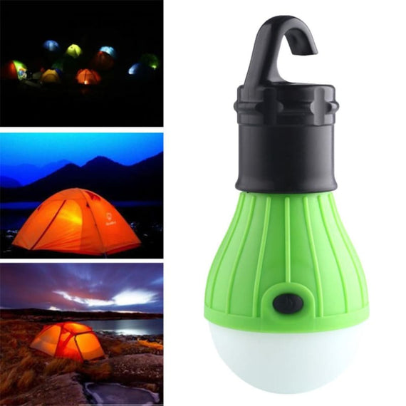 Outdoor Portable Hanging Camping Bulb LED Lantern Tent Hook Light