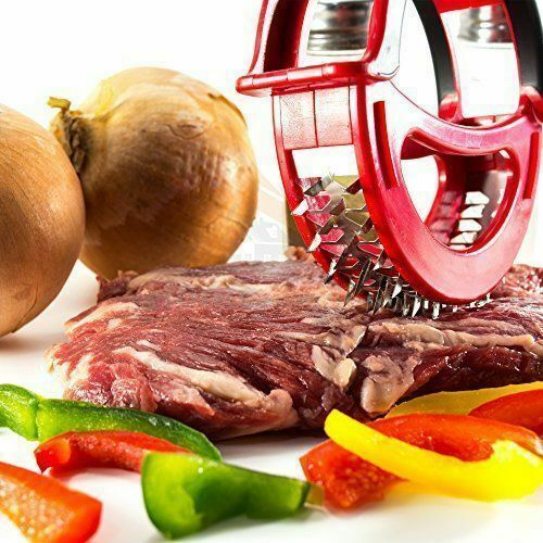 Stainless Steel Round Meat Tenderizer Beef Chicken Steak Kitchen BBQ Roller Tool - TcMarketShop
