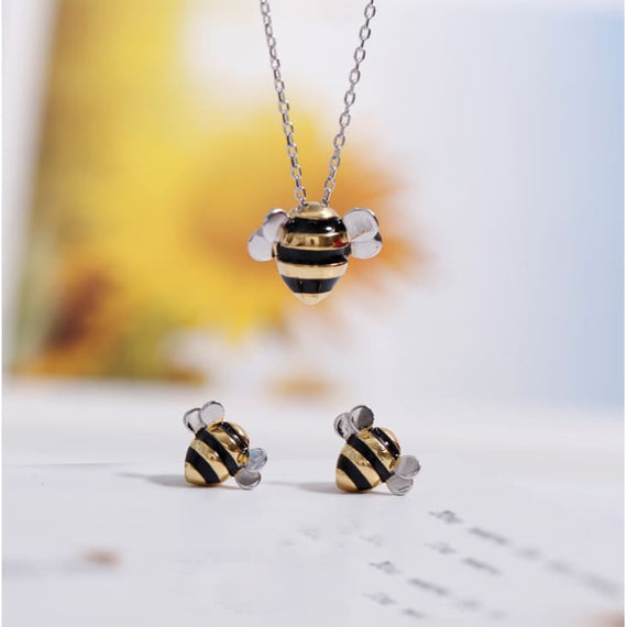 Womens Cute Bees Necklaces & Pendants 925 Sterling Silver Jewelry