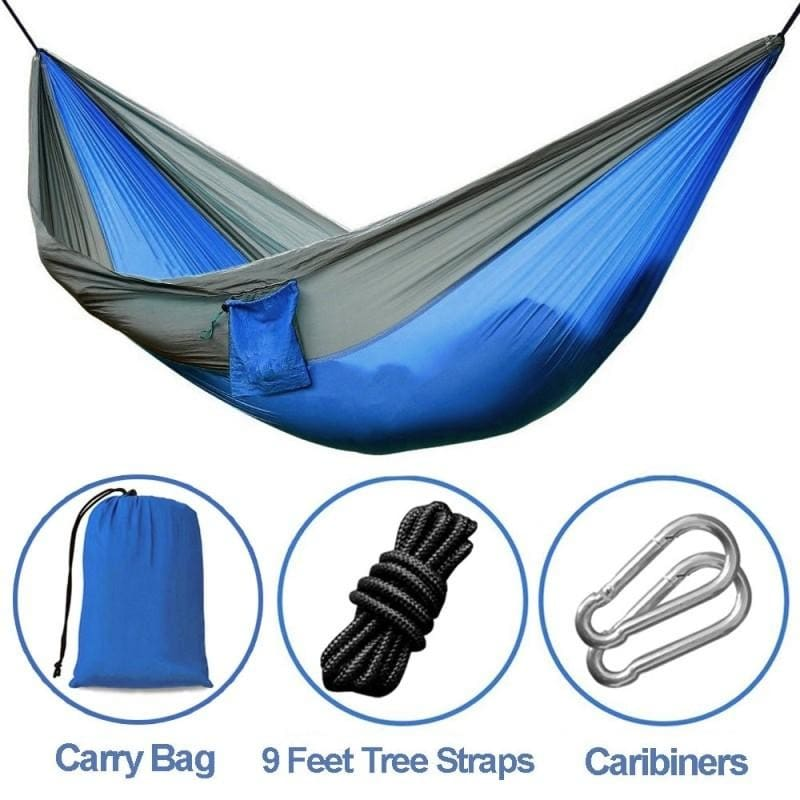Double Nylon Parachute Hammock for your Outdoor Camping Comfort Beach