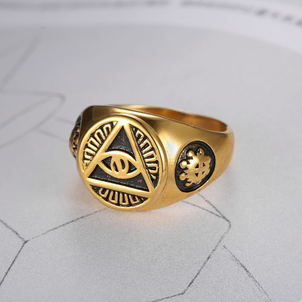 all seeing eyes masonic rings
