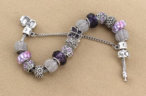 Beaded Bracelet DIY Diamond Butterfly Alloy Tennis Accessories