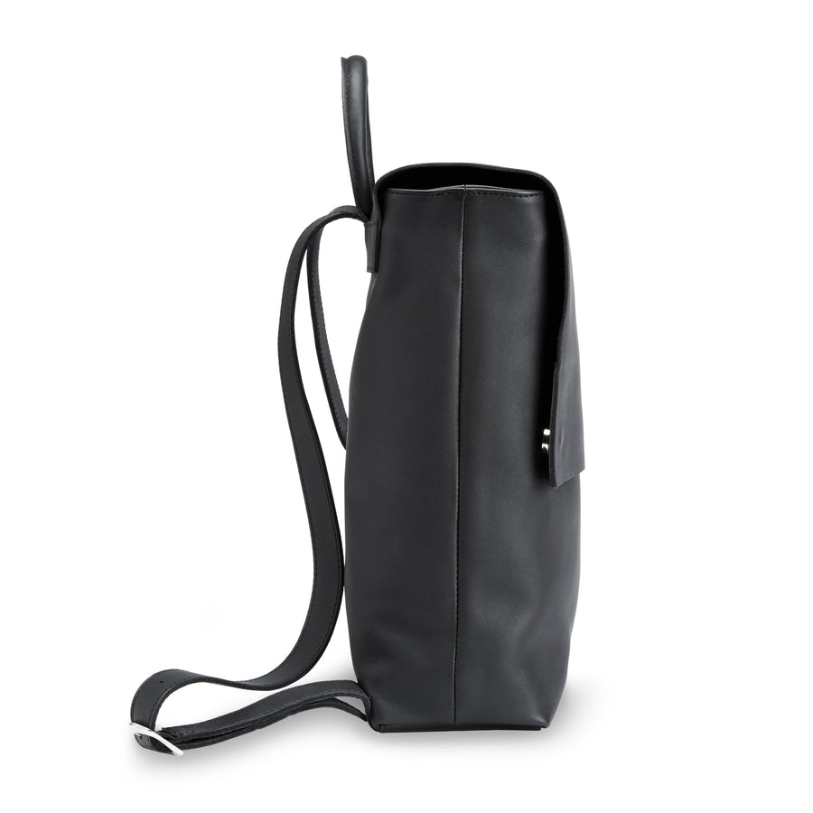 Camino black eco leather travel backpack