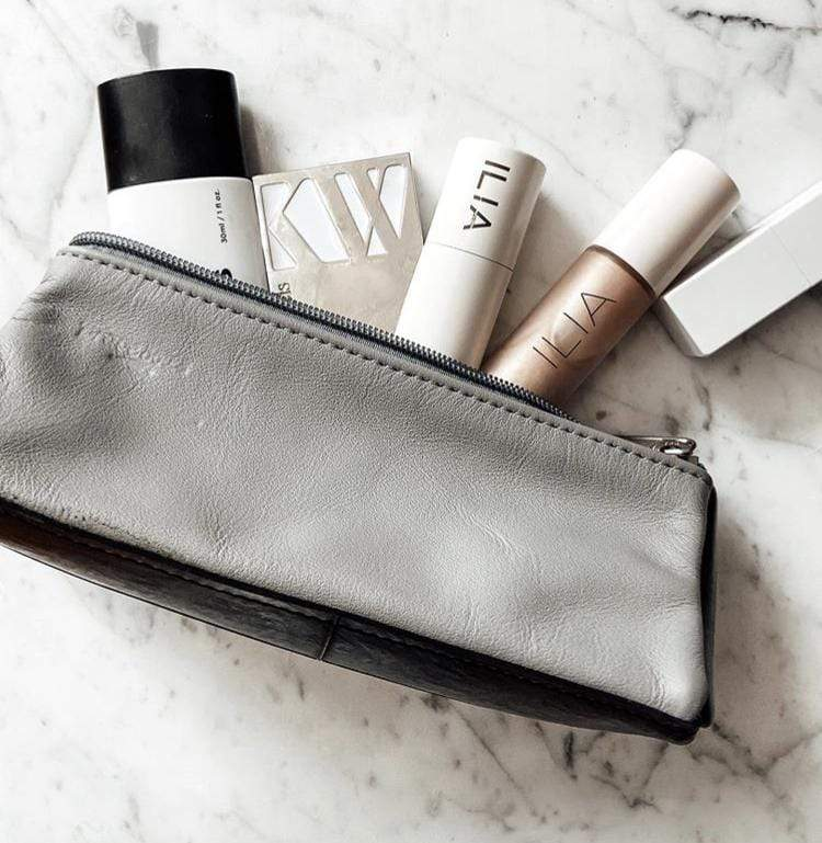 Leather makeup case