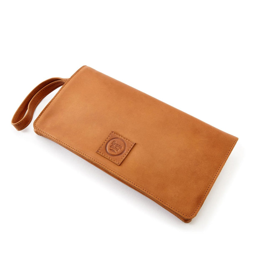 The Kristina leather clutch