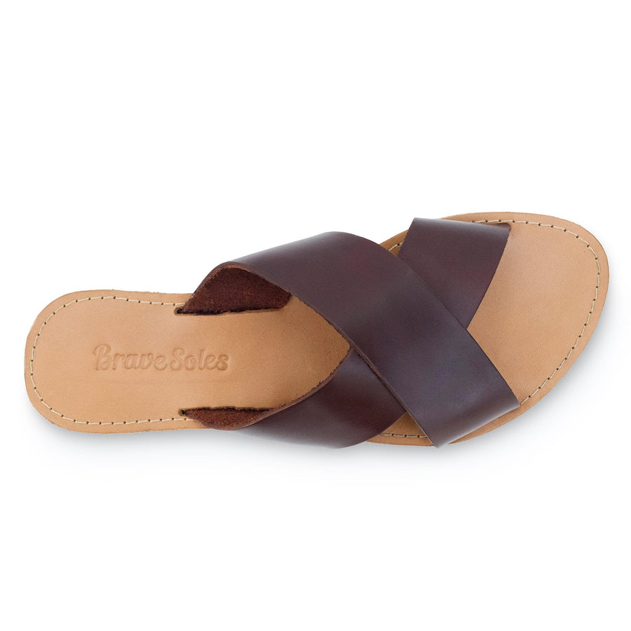Constanza leather slide sandals