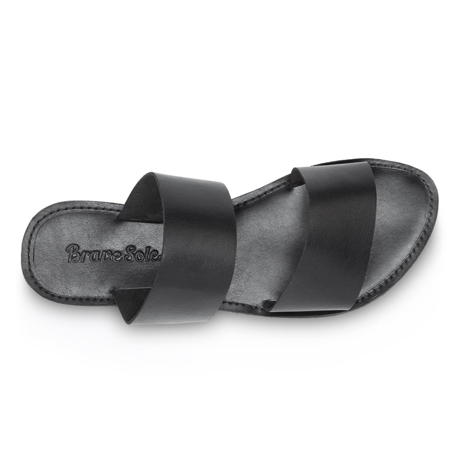 The Ophelia Leather Slide Sandal