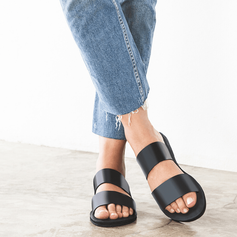 Ophelia Leather slide sandals