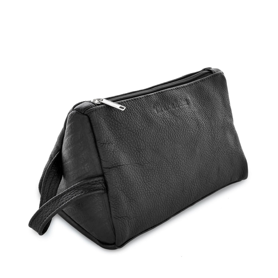 Monta̱a eco conscious leather unisex beauty travel case