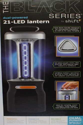 The Black Series Dual-Powered 21-LED lantern by Shift3