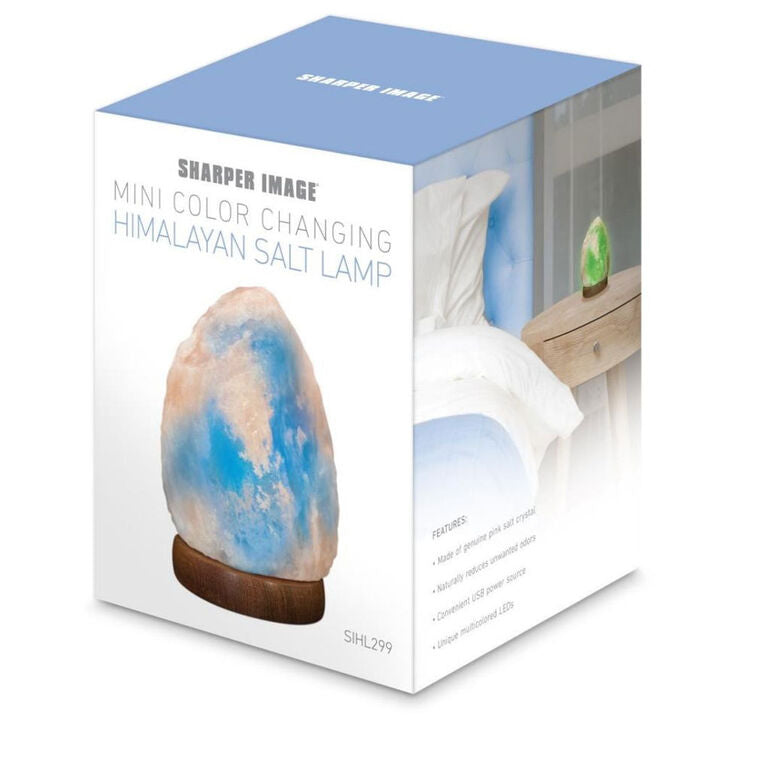Sharper Image Himalayan Salt Lamp with LED Changing Lights