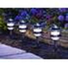 Gracious Living 5 Garden Lights Set with Photocell Sensor