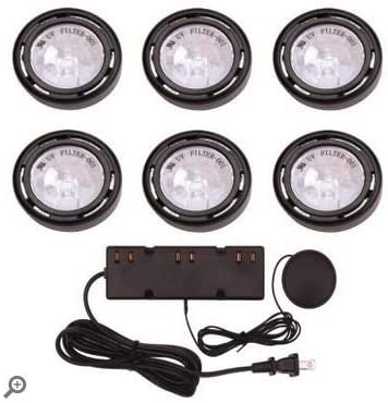 PUCK LIGHTS UTILITECH 120V 6-LIGHT XENON ACCENT KIT 3-LEVEL TOUCH DIMMER