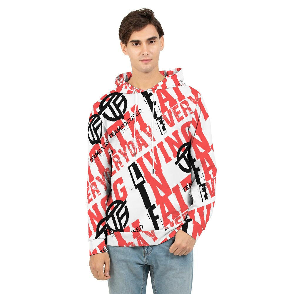 white red life Men's Hoodie