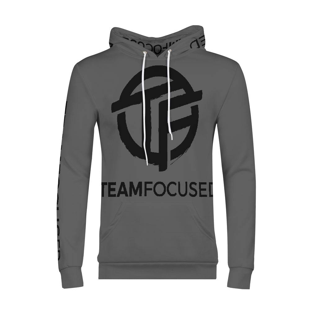 gray focused Men's Hoodie